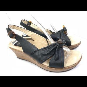 Dansko Alize leather Slingback Wedge Sandals 40